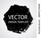 grunge logo ribbon. modern... | Shutterstock .eps vector #384913468