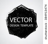 grunge logo ribbon. modern... | Shutterstock .eps vector #384913474