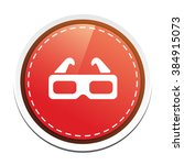 3d glasses button | Shutterstock .eps vector #384915073