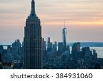 empire state building and one... | Shutterstock . vector #384931060