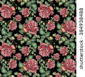 rose color pencil  pattern... | Shutterstock . vector #384938488
