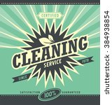 vintage ad design for cleaning... | Shutterstock .eps vector #384938854
