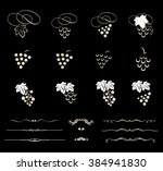 collection of grapes... | Shutterstock .eps vector #384941830