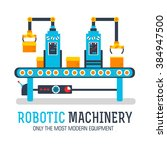 robotic machines process vector ... | Shutterstock .eps vector #384947500