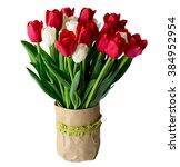 amazing flowers background.... | Shutterstock . vector #384952954