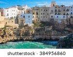 polignano a mare  bari  italy   ... | Shutterstock . vector #384956860