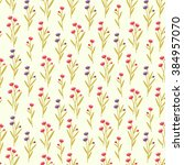 seamless pattern with small... | Shutterstock .eps vector #384957070