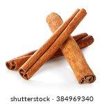 cinnamon sticks close up... | Shutterstock . vector #384969340