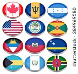 set of icons. north and central ... | Shutterstock .eps vector #384969580