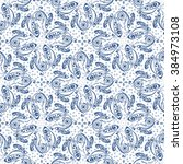 hand drawn paisley pattern.... | Shutterstock .eps vector #384973108