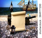 pirate ambiance with with... | Shutterstock . vector #384977200