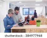 startup business team on... | Shutterstock . vector #384977968