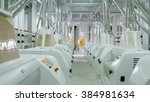 electrical mill machinery for... | Shutterstock . vector #384981634