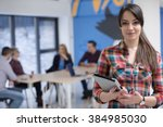 portrait of young business... | Shutterstock . vector #384985030