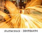 industrial welding automotive... | Shutterstock . vector #384986494