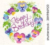 vector illustration. happy... | Shutterstock .eps vector #384986920