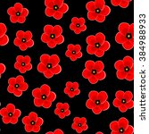 Art Poppy Flower Back Pattern...
