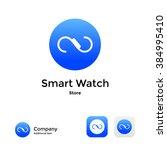 smart watch modern logo icon... | Shutterstock .eps vector #384995410