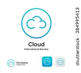 cloud modern logo icon and... | Shutterstock .eps vector #384995413