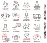 vector set of 16 icons related... | Shutterstock .eps vector #385000753