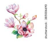 Painting Magnolia Flower...