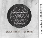 moon. sri yantra   symbol of...
