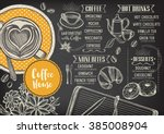 coffee restaurant brochure... | Shutterstock .eps vector #385008904