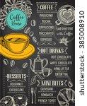 coffee restaurant brochure... | Shutterstock .eps vector #385008910