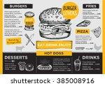 restaurant brochure vector ... | Shutterstock .eps vector #385008916