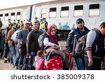 gyekenyes  october 5   war...   Shutterstock . vector #385009378