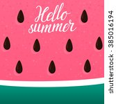 bright watermelon background... | Shutterstock .eps vector #385016194