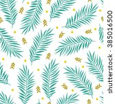 vector summer seamless pattern... | Shutterstock .eps vector #385016500