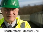 portrait of construction... | Shutterstock . vector #385021273