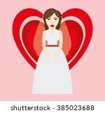 happy wedding design   Shutterstock .eps vector #385023688