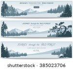 vector coniferous forest design ... | Shutterstock .eps vector #385023706