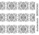 mexican white and black pattern.... | Shutterstock . vector #385024363