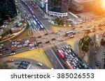 traffic speeds through an... | Shutterstock . vector #385026553