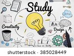 study knowledge education smart ... | Shutterstock . vector #385028449