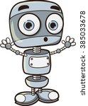 Cartoon Robot  Vector...