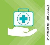 insurance icon design  | Shutterstock .eps vector #385036636