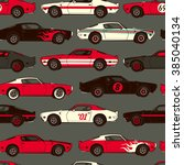 american muscle classic racing... | Shutterstock .eps vector #385040134
