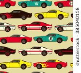 american muscle classic racing... | Shutterstock .eps vector #385040158
