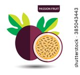 passion fruit  fruit vector... | Shutterstock .eps vector #385043443