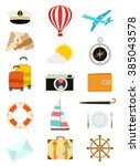set of tourism icons | Shutterstock .eps vector #385043578
