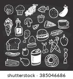food and drink doodle on... | Shutterstock . vector #385046686