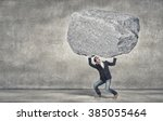 he is strong enough to do it | Shutterstock . vector #385055464