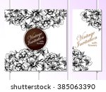 vintage delicate invitation... | Shutterstock .eps vector #385063390