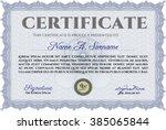 blue certificate template or...   Shutterstock .eps vector #385065844