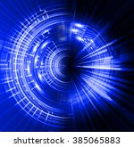 dark blue circle wave... | Shutterstock . vector #385065883