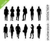people silhouettes vector | Shutterstock .eps vector #385067809